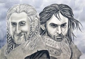 Fili and Kili (quick sketch) by Grishhak