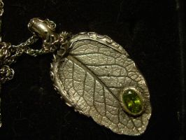 Leaf Necklace by crazy-artist34