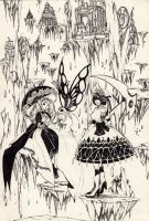 Lolita in background Sci-fi by cantiny