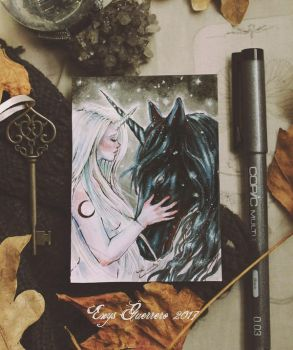 You Are My Only Friend ACEO by EnysGuerrero