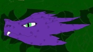 Purple Dragon-Paint by Fluffypuppy77