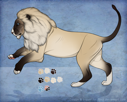 Snowshoe Lion Character ADOPTABLE by i3nici