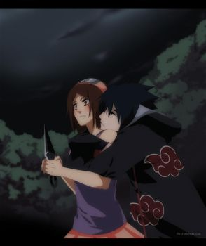 Commission: Sasuke and Kristy by annria2002