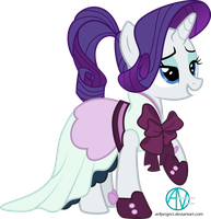 Rarity ponytail hairstyle vector by arifproject