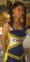 Me in my cheerleader costume without my glasses by Magic-Kristina-KW