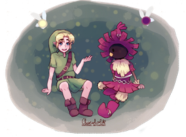 Majora's Mask: Link and Skull Kid by ChocoHal