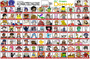 101 Character Challenge Redux by Ol-Green-Nipples