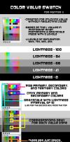 Color Value Swatch Guide by heozART
