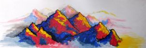 Colourful Mountain Landscape by kaylamckay