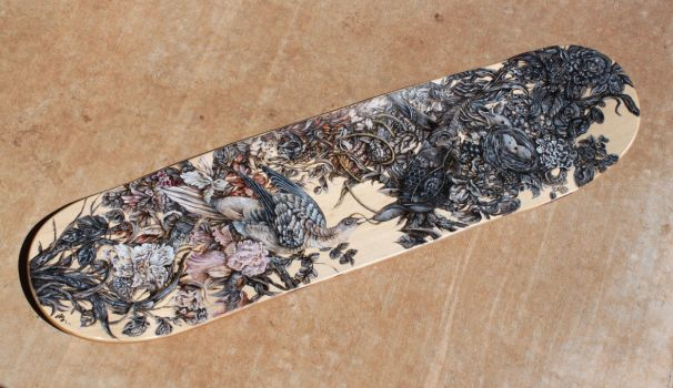Hand Painted Skatedeck by AKOrganicAbstracts