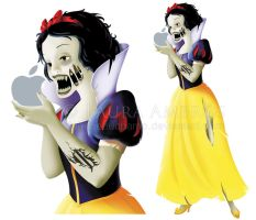 Zombie Snow White by TheDarkishSide