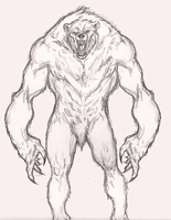 Sketchy werebear by ImmaculateReprobate