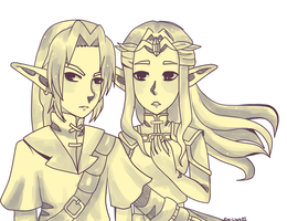 Dont   Touch  My  Princess link and zelda oot by eve-link02