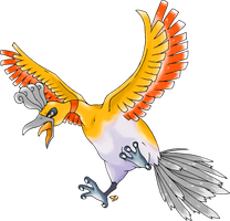 Ho-Oh Shiny Version by Xous54
