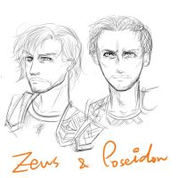 Zeus and Poseidon by skylord1015