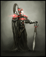 Eldar Warlock by UltimaFatalis