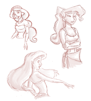 Disney Scribbles by siquia