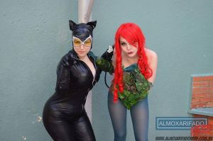 Catwoman and Ivy by VallLondon
