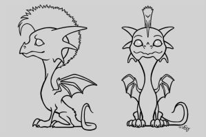 Mohawk Dragon - WIP by melkatsa