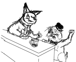Business Dogs in a Bar by Cenadramon