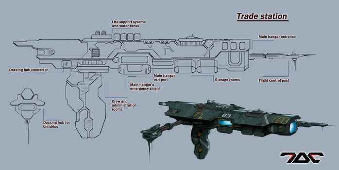 Trade station concept by Aldeminor
