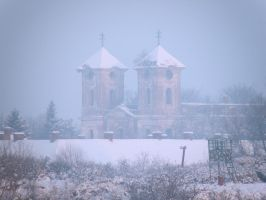 Fortress Church - Winter by A-Xander