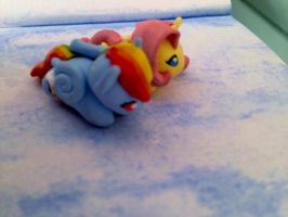 Polymer clay RD and Fluttershy by TheFreckledLeaf