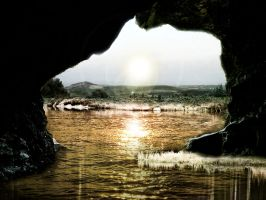 Cave sun by LisandroLee