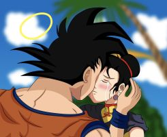 Goku and ChiChi- I've missed u by Beastwithaddittude