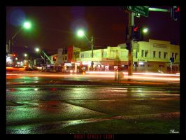 Night Street Colors by Thoran