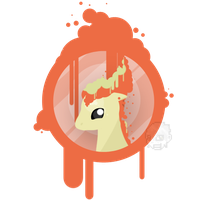 Ponyta Splat by SteveKdA