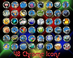 48 chrome Icons by 0dd0ne