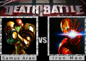 Death Battle: Samus Aran vs. Iron Man by SpikeJet2736