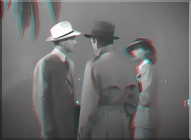 3D animated anaglyph Casablanca 1942 by gogu1234