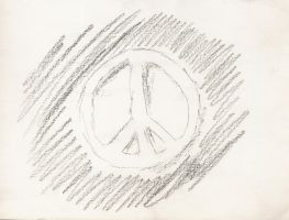 Peace sign drawn 1960s by angelstar22