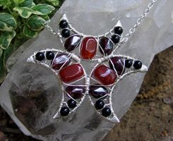 Carnelian, Garnet and Onyx by MoonLitCreations