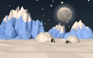low poly scene 3 - north pole by Nolfen