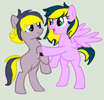 Art Trade - Maiah and Lightning Speed by Yurayka