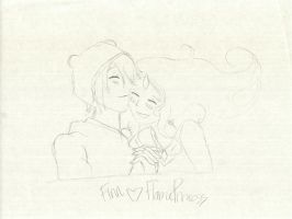 finn and flame princess, cuddle by sunflower1375