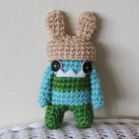 Silas the BUNNY monster by hellohappycrafts