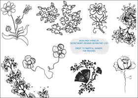 Flower Image Brush Pack 4 by secretheart-designs