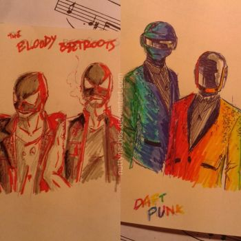 The Bloody Beetroots and Daft Punk by nuttynachos