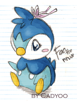 Fo0plup the Piplup by cadyoo