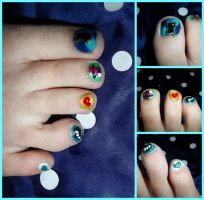 Alice in Wonderland Nails by HermioneFrost