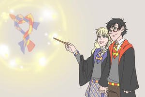 untitled harryxluna commission by sammywhatammy