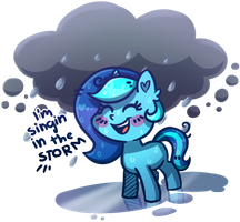 Art trade - Singing in the storm by Keep-Yourself-Alive
