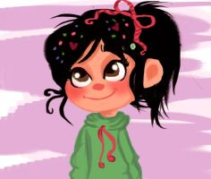 Vanellope quick sketch by Claualphapainter-95