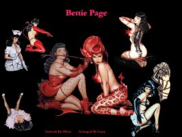 Bettie Page by Olivia by pixelatedxdeath