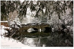 Snowy Nunnery Bridge by In-the-picture