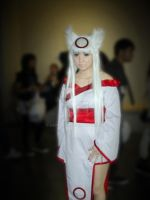 cosplay lady in white by ZappaArt